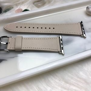 42/44mm Cream Leather iWatch Band